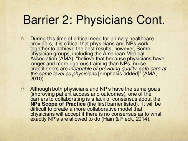 barriers for a nurse practitioner to Nurse practitioner work: a case study abstract within any professional practice, knowledge developments to support service delivery and to understand.