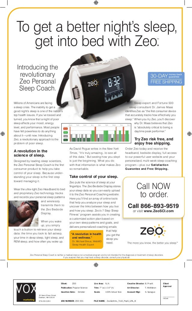 Introducing the revolutionary Zeo Personal Sleep Coach. Sleep expert and Fortune 500 sleep consultant Dr. James Maas ident...