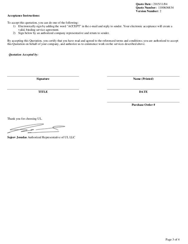 quote acceptance form