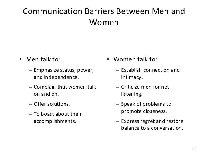 do males and females communicate with How women and men communicate differently, part 1  it might also help to know some of the differences in how men and women communicate and how to use what dr john lund, therapist and author .