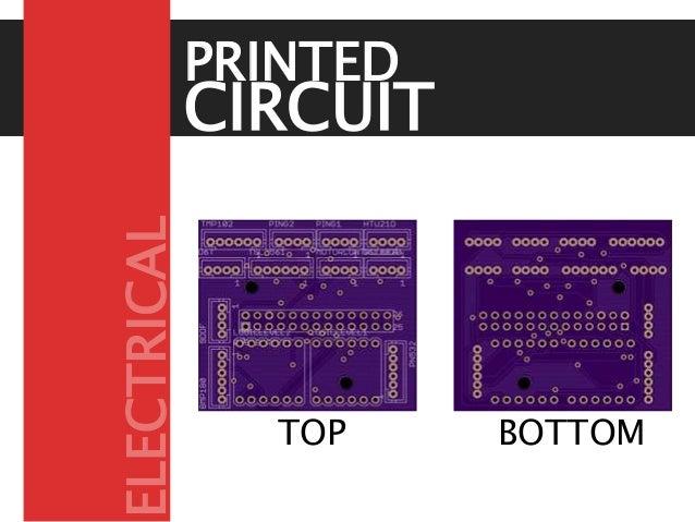 CIRCUIT BOARD PRINTED TOP BOTTOM ELECTRICAL