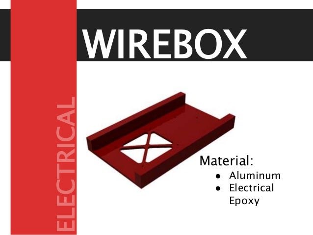 WIREBOX Material: ● Aluminum ● Electrical Epoxy ELECTRICAL