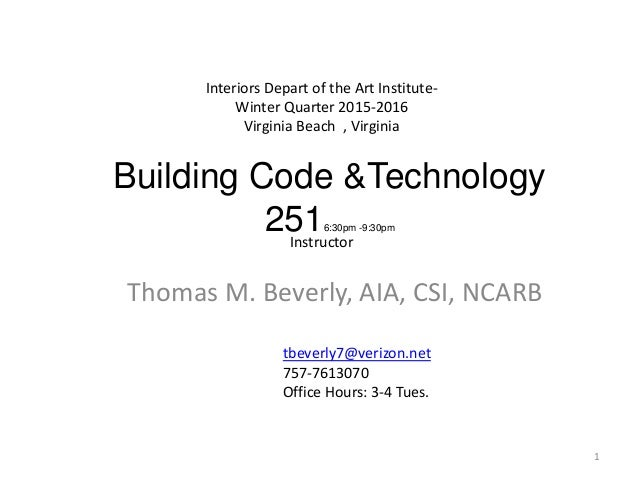 Aa2016building Code Basics Feb With Additional Material