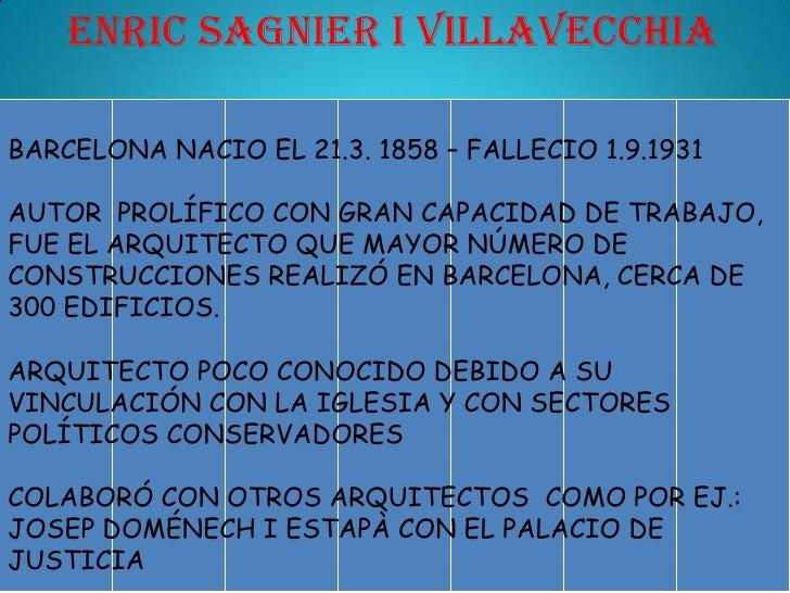 Modernistas arquitectos barcelona 5 presentaci n - Trabajo arquitecto barcelona ...