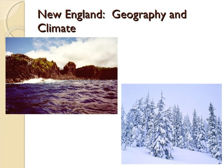 New England Food And Natural Resources