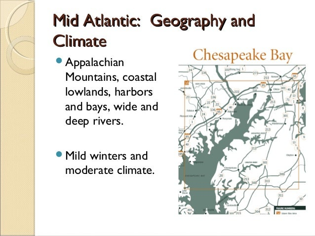 mid atlantic colonies geography