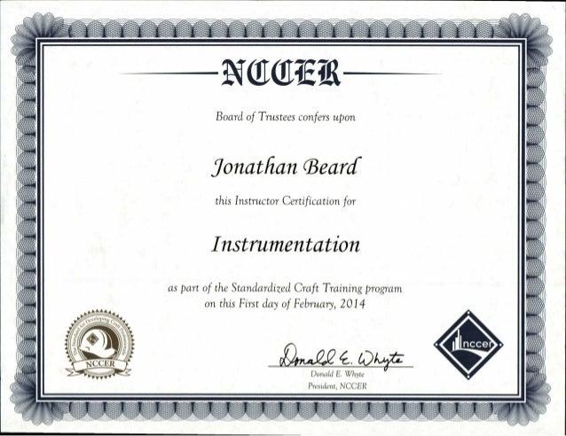 NCCER Instrumentation Instructor Certification