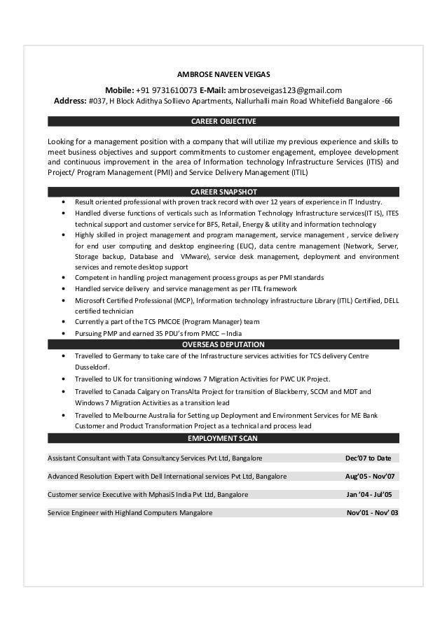 Internet Itil Mobile Resume Services Wireless
