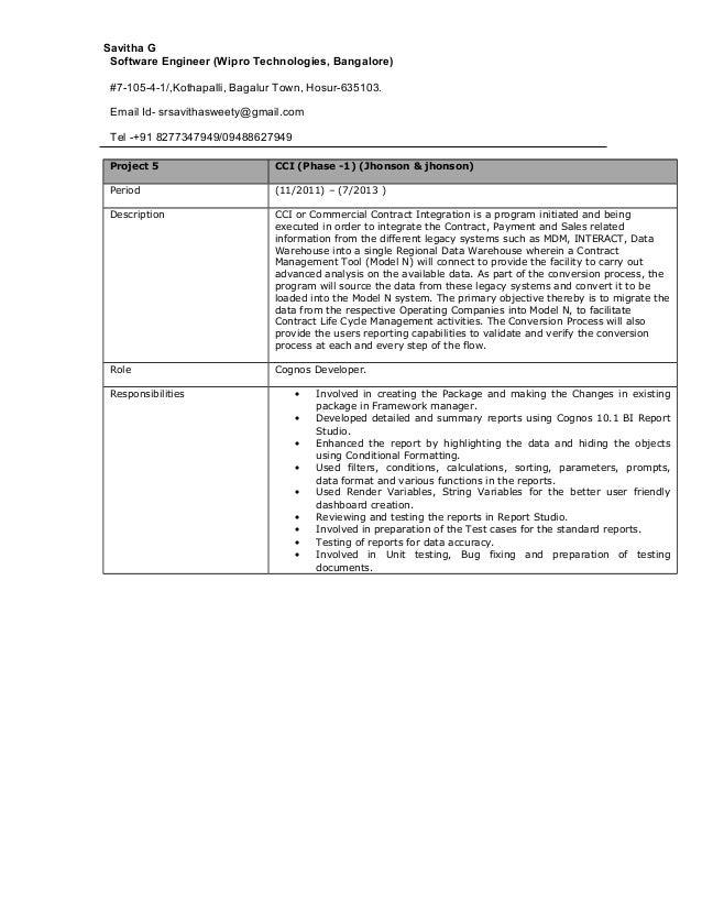 Savitha G Software Engineer (Wipro Technologies, Bangalore) #7-105-4-1/,Kothapalli, Bagalur Town, Hosur-635103. Email Id- ...