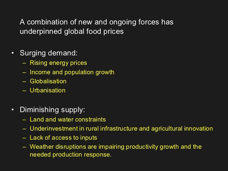CLIMATE CHANGE LINKED TO GLOBAL RISE IN FOOD PRICES
