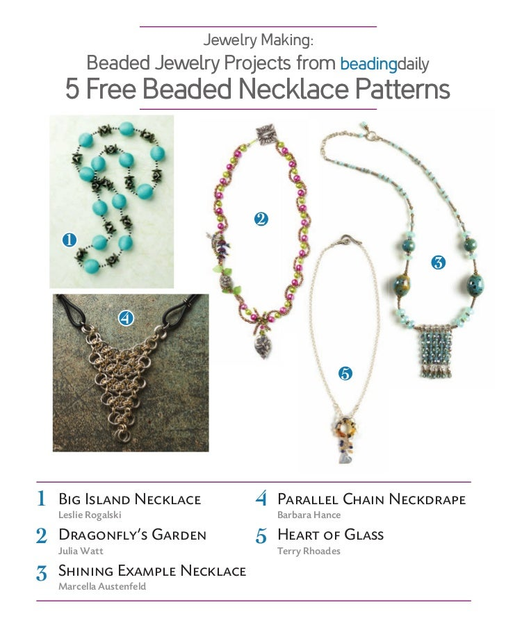 Jewelry Making:          Beaded Jewelry Projects from beadingdaily     5 Free Beaded Necklace Patterns                    ...
