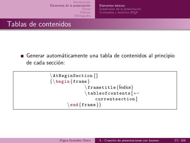 5-beamer: Creación de presentaciones con LaTeX Imprimible