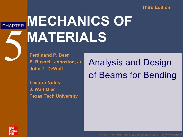 5 Analysis and Design of Beams for Bending