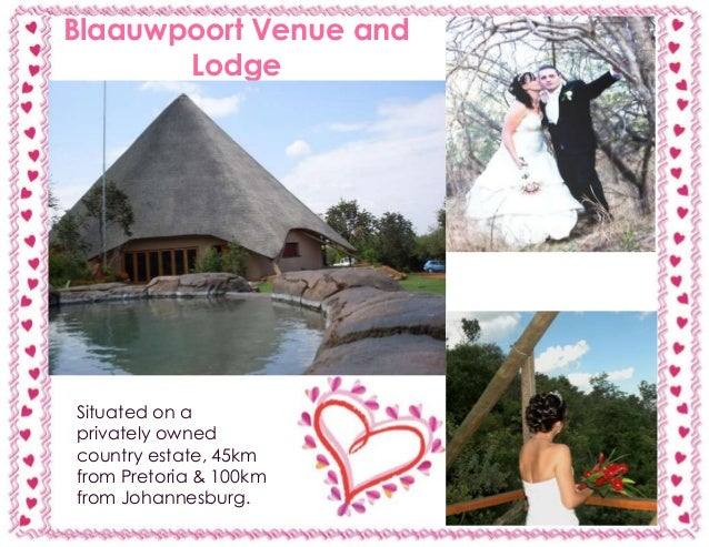 5 Beautiful Wedding Venues in Gauteng, South Africa