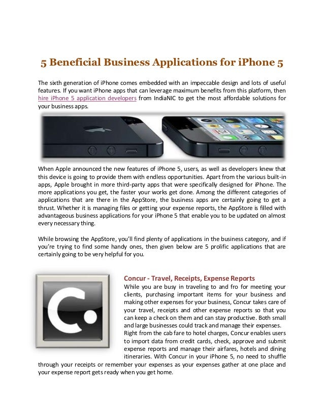 5 Beneficial Business Applications for iPhone 5The sixth generation of iPhone comes embedded with an impeccable design and...