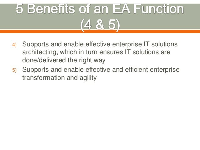 5 Benefits Of Having An Enterprise Architecture Function In Your  Organisation