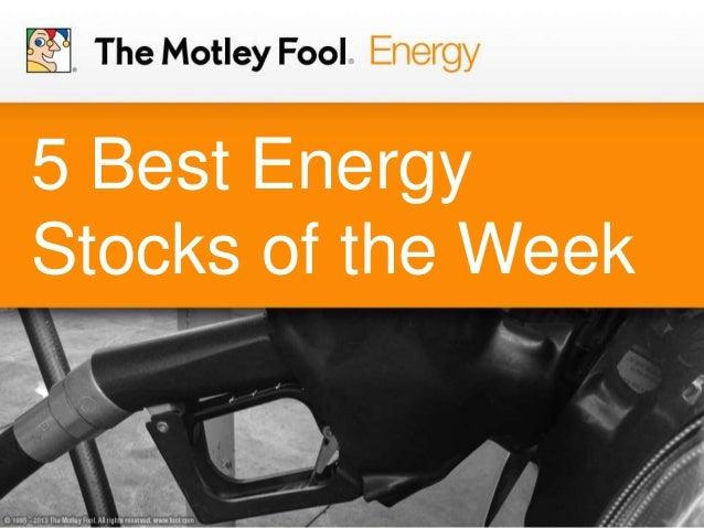 5 Best Energy Stocks of the Week