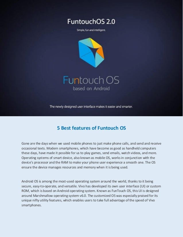 5 best features of funtouch os