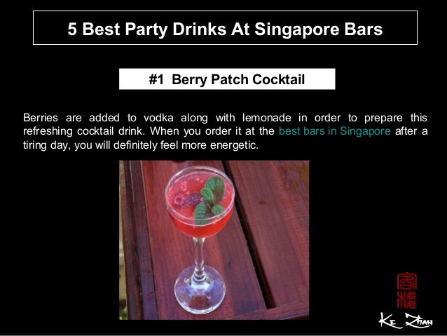 5 best party drink at singapore bars