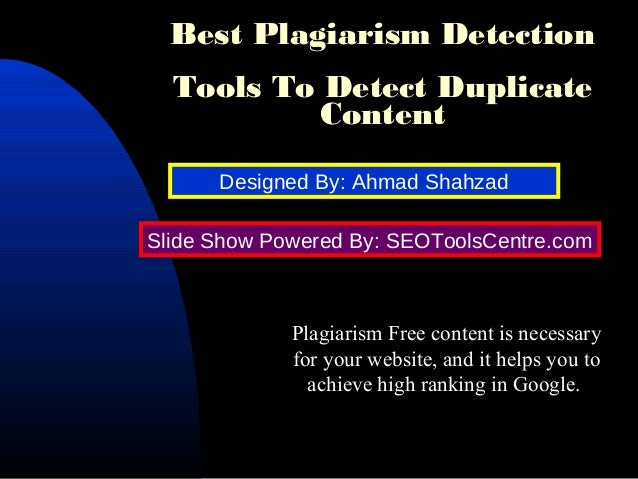 websites to detect plagiarism for free