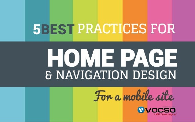 best practices for home page and navigation design for a mobile site