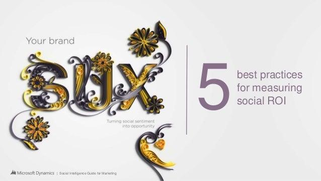   Social Intelligence Guide for Marketing 5best practices for measuring social ROI