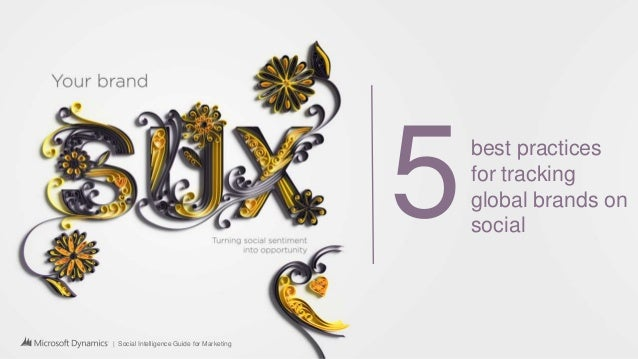 | Social Intelligence Guide for Marketing 5best practices for tracking global brands on social