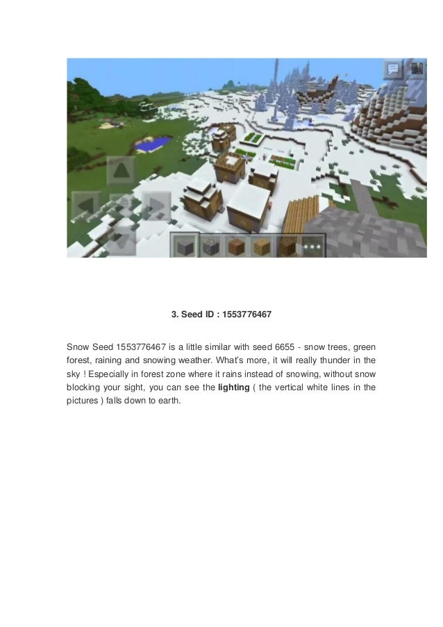 5 best snow biome seeds for minecraft pe snow villages ice