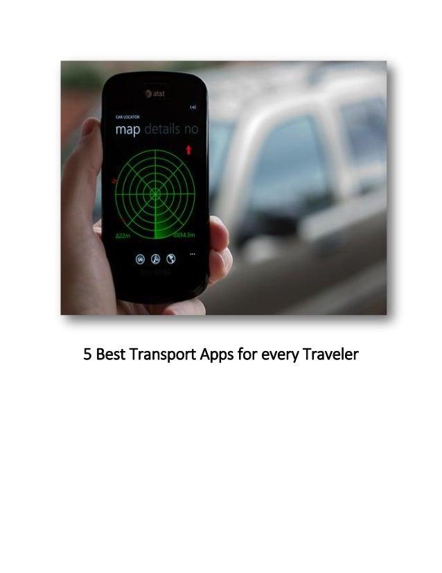 5 Best Transport Apps for every Traveler