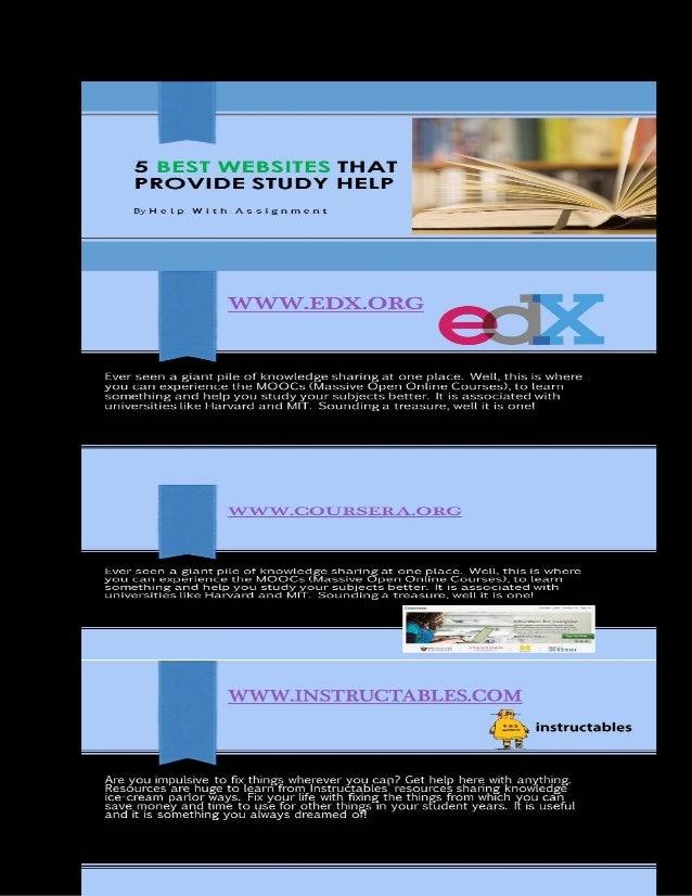 5 Best Websites That Provide Study Help