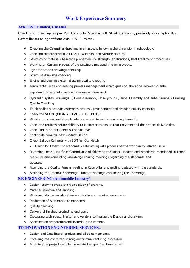 Beautiful Caterpillar Engineering Resume Contemporary - Best Resume ...