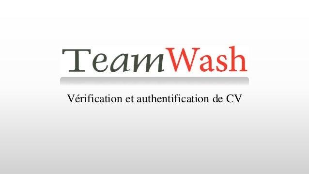 Vérification et authentification de CV