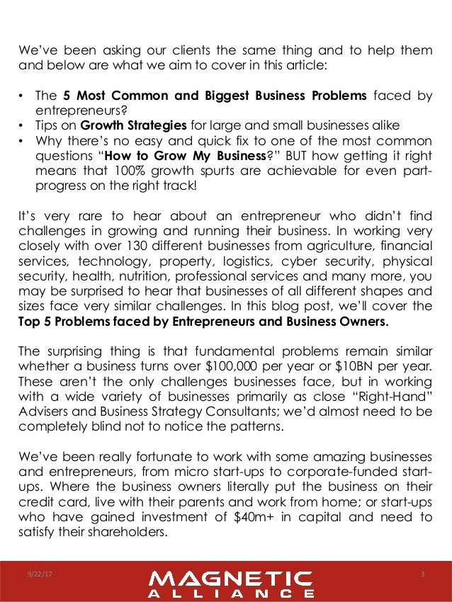 5 Biggest Business Challenges Entrepreneurs Face