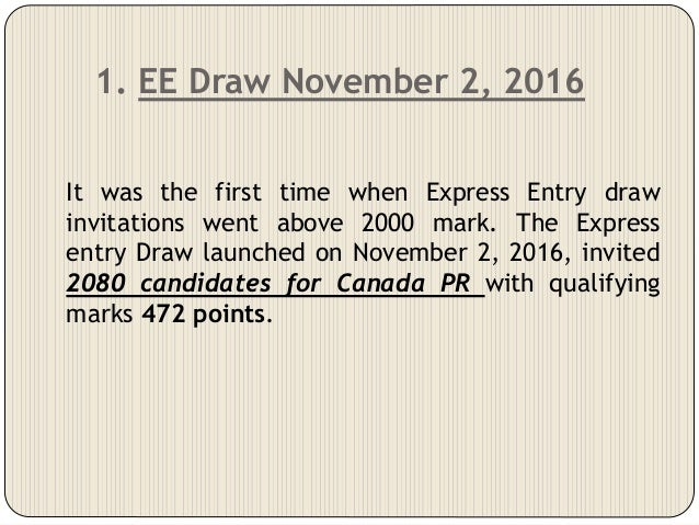 5 Biggest Express Entry Draws in 2016-20177