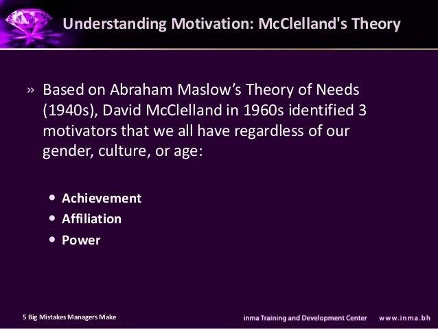 an understanding of various motivation theories This idea also underlies some theories of motivation  approaches to motivation examine the various factors that  for understanding human behaviors.