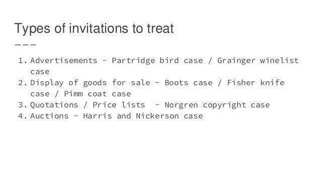 invitation to treat case law