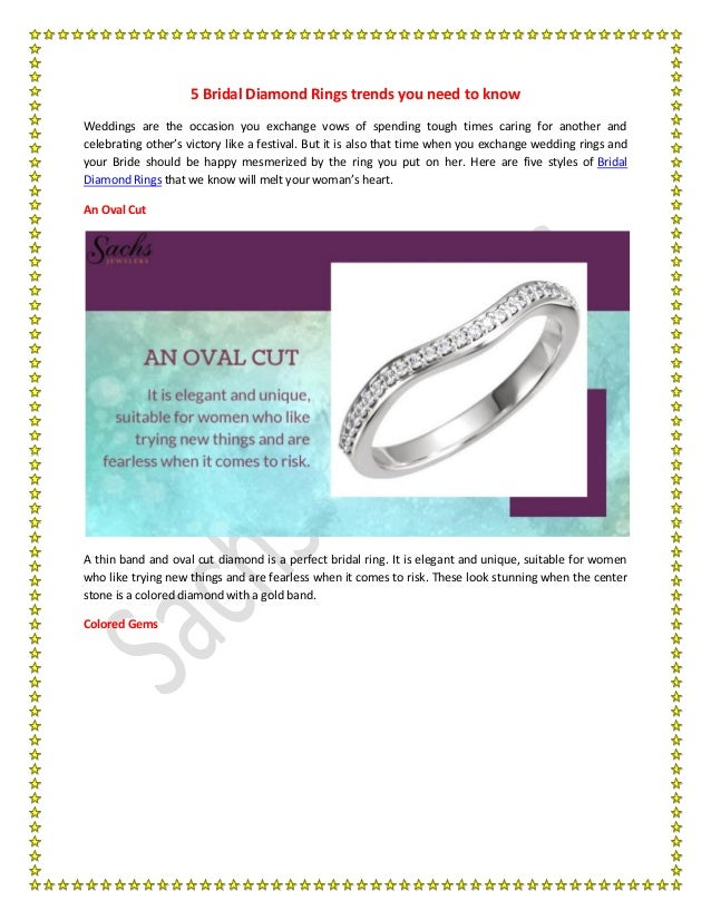 5 Bridal Diamond Rings trends you need to know Weddings are the occasion you exchange vows of spending tough times caring ...
