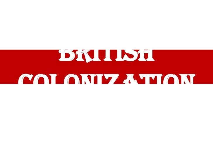 BritishColonization