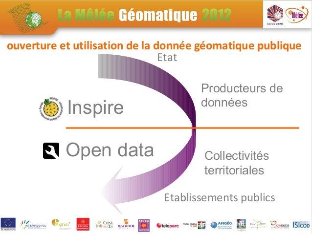 ouverture et utilisation de la donnée géomatique publique                                Etat                             ...
