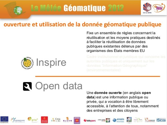 ouverture et utilisation de la donnée géomatique publique                             Fixe un ensemble de règles concernan...