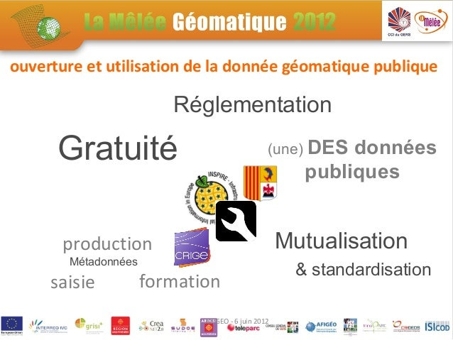 ouverture et utilisation de la donnée géomatique publique                        Réglementation      Gratuité             ...