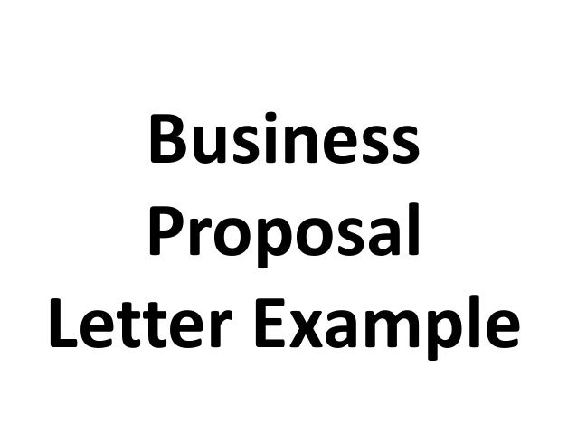 business proposal letter example – Business Proposal Letter Example
