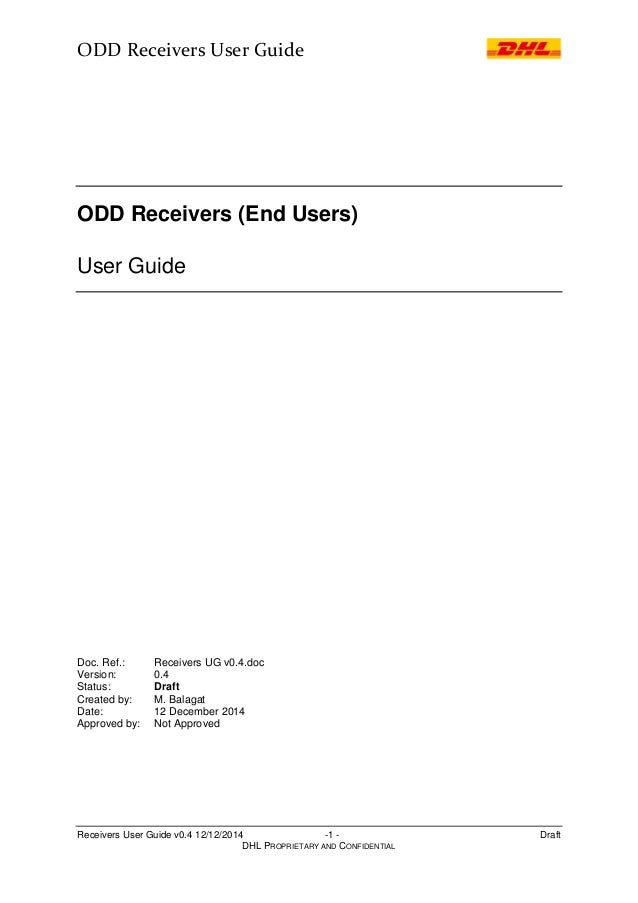 ODD Receivers User Guide v 0.4