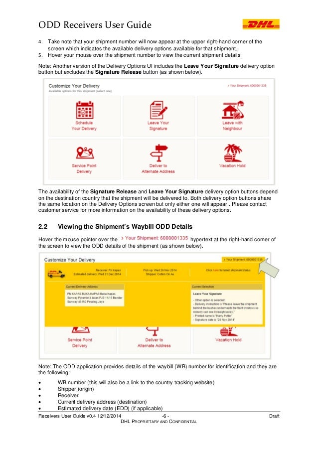 ODD Receivers User Guide v 04 – Shipment Release Authorization Form