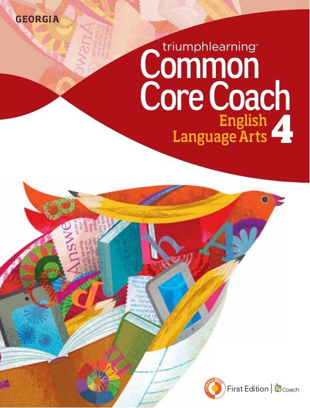 EnglishLanguageArts 4CommonCoreCoachGEORGIAFirst Edition