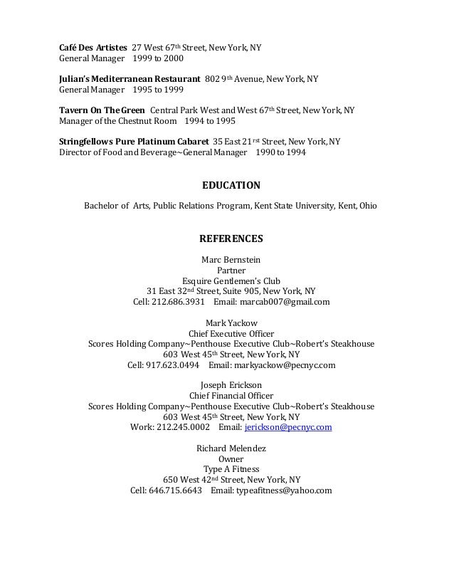 Gregory Rambo Resume
