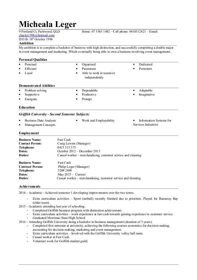 resume template 2014