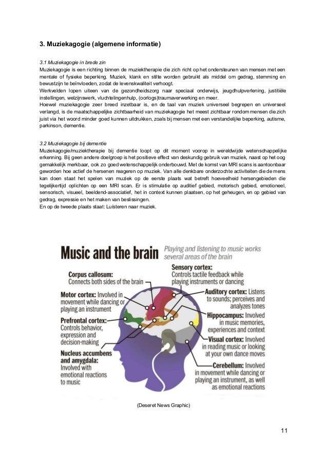 3. Muziekagogie (algemene informatie) 3.1 Muziekagogie in brede zin Muziekagogie is een richting binnen de muziektherapie ...