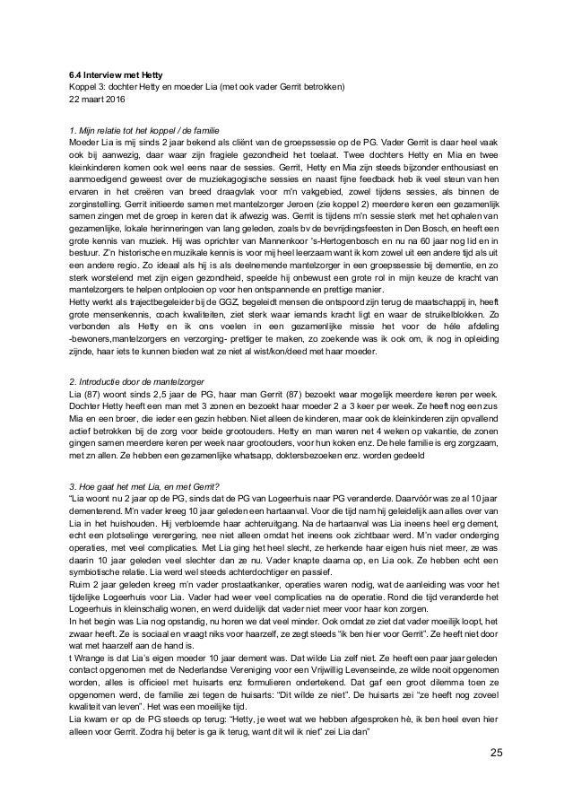 6.4 Interview met Hetty Koppel 3: dochter Hetty en moeder Lia (met ook vader Gerrit betrokken) 22 maart 2016 1. Mijn relat...