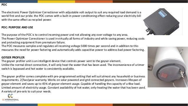 ••.I. • •• • loll -!:' .... ........, POWER DISPLAY UNIT User friendliness ensures maximum control. The display of power u...